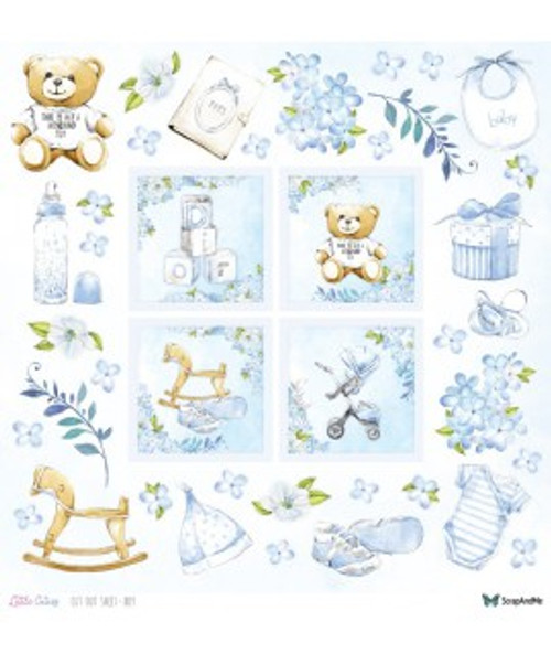 ScrapAndMe - Little Cuties - Boy - 12x12 Elements