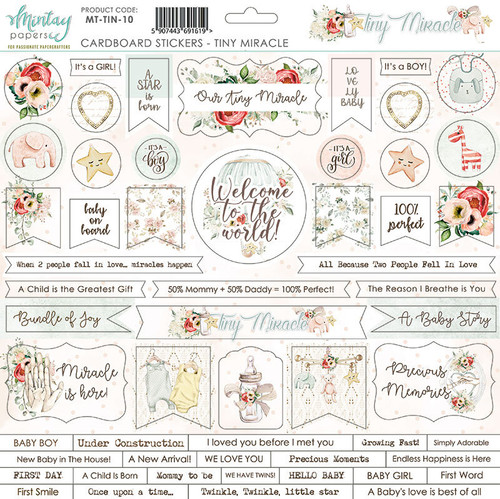 Mintay -  Tiny Miracles - 12 x 12 chipboards