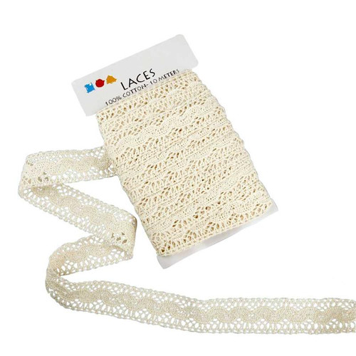 Lace border 30mm off white