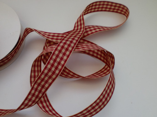 20mm Checked ribbon