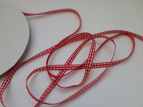 6mm checked ribbon