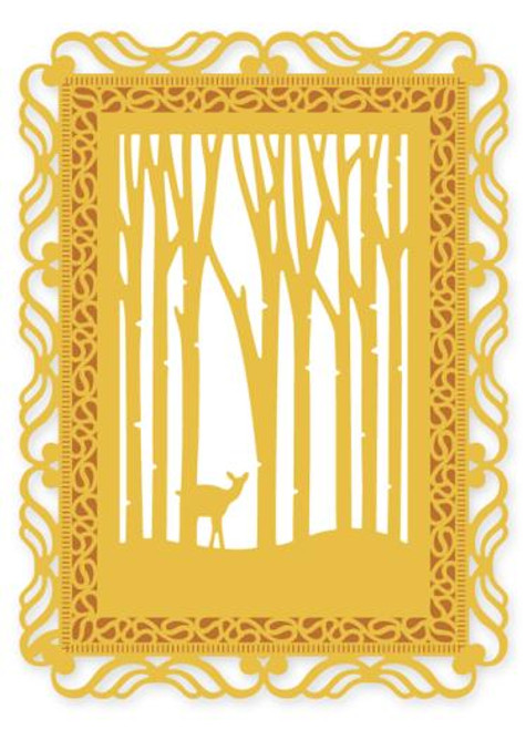 Crafts Too Presscut Die Cutting and Embossing Stencil Woodland Scene