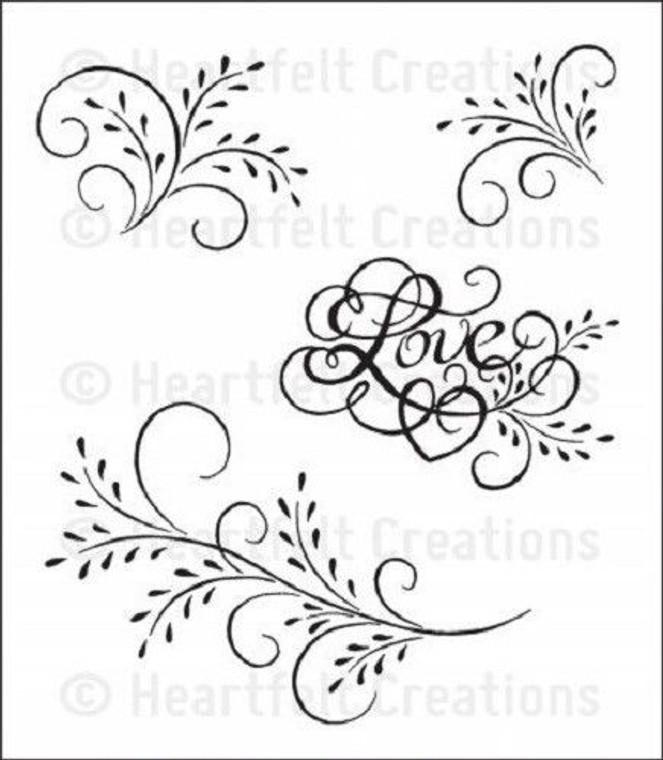 Heartfelt Creations - Feather Grass Flourish - HCPC3435