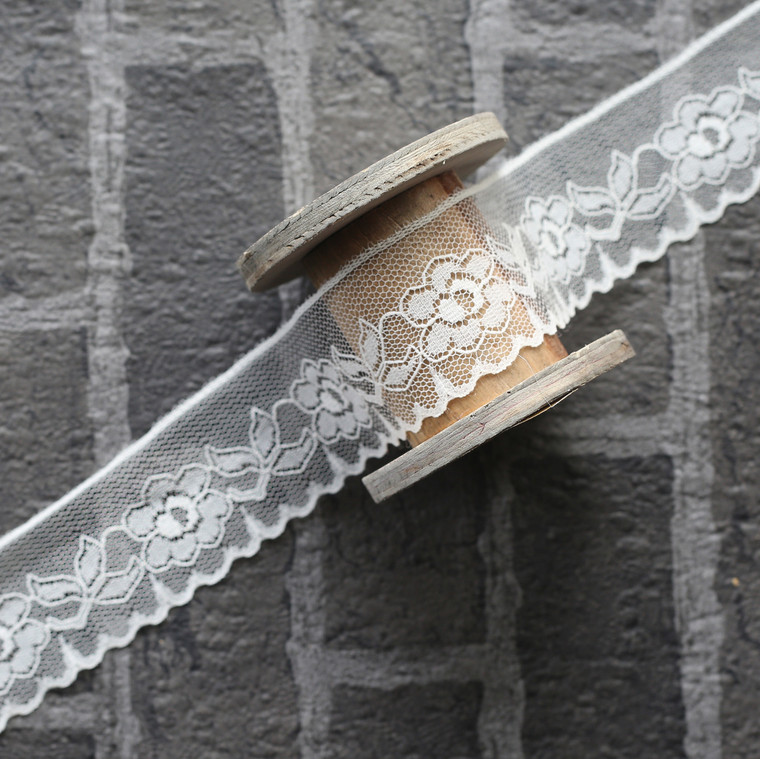 Antique Lace - Ivory (1m by 4.5cm)