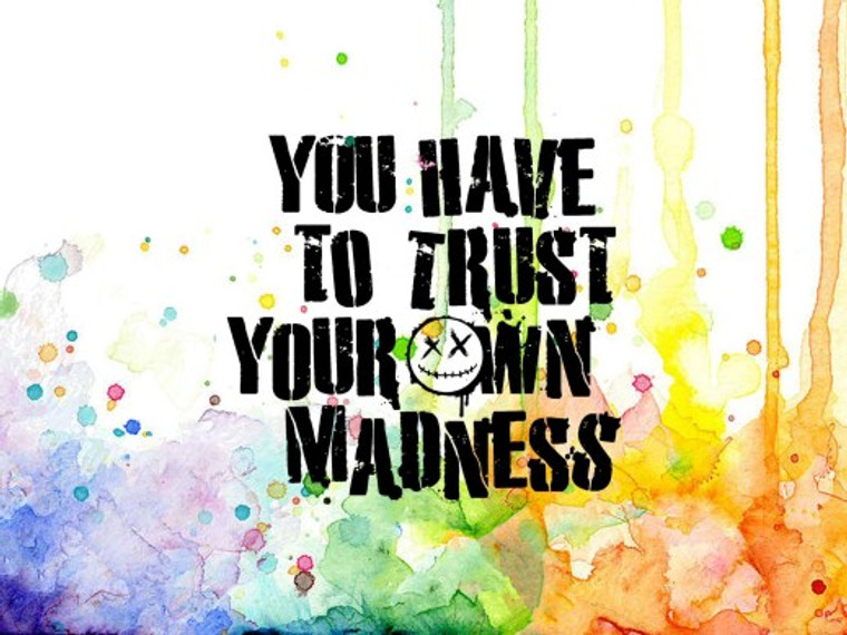 Visible Image - Trust Your Madness (VIS-TYM-01)  Clear photopolymer stamp