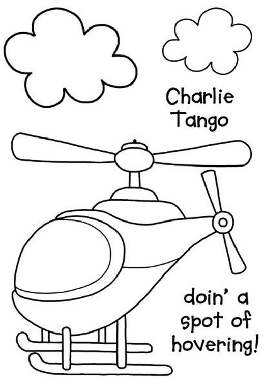 Woodware Clear Magic Singles - Charlie Tango (JGS504)  Polymer stamps are ready to mount on an acrylic block.  Packaged size A6 approx.
