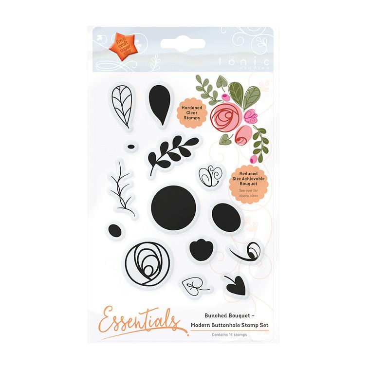 Tonic Studios - Bunched Bouquet – Modern Buttonhole Stamp Set