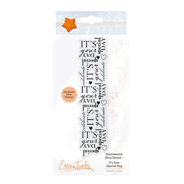 Tonic Studios - Sentimental Strip Stamp Set – It's Your Special Day