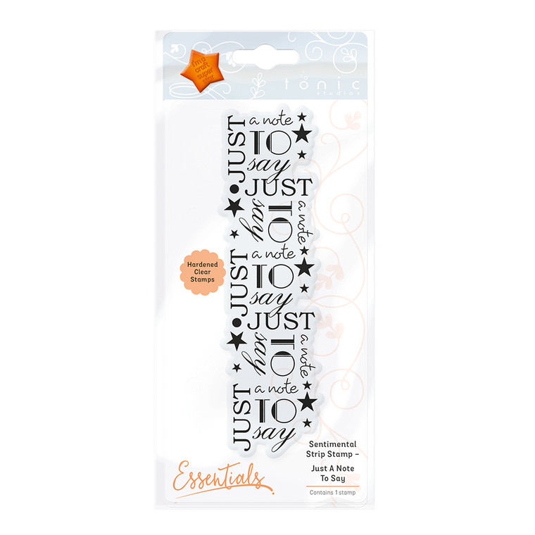 Tonic Studios - Sentimental Strip Stamp Set – Just a Note to Say
