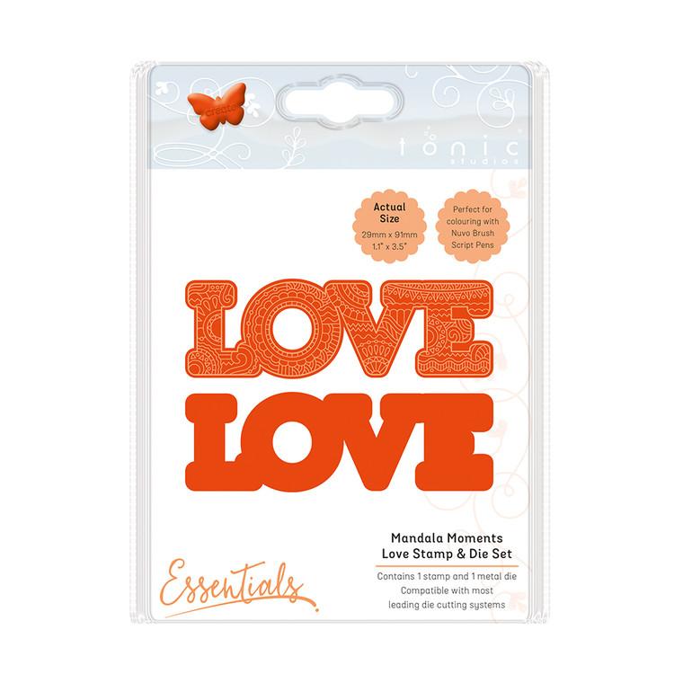 Tonic Studios - Mandala Moments – Love Stamp & Die Set