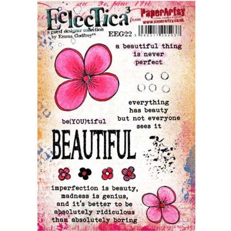 PaperArtsy Cling Mounted Stamp Set - Eclectica³ - Emma Godfrey - EEG22