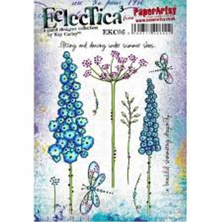 PaperArtsy Cling Mounted Stamp Set - Eclectica³ - Kay Carley - EKC06