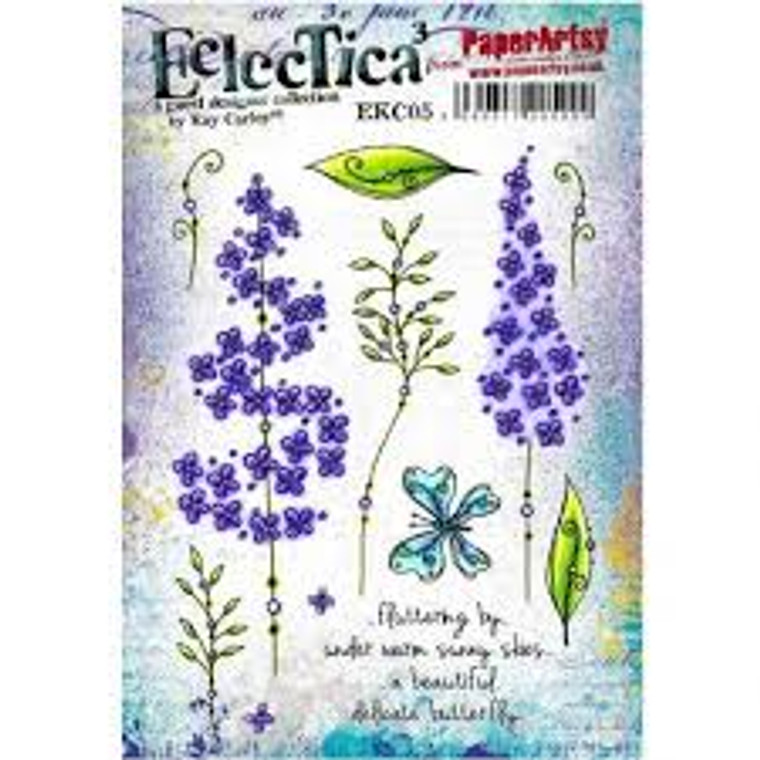 PaperArtsy Cling Mounted Stamp Set - Eclectica³ - EKC05