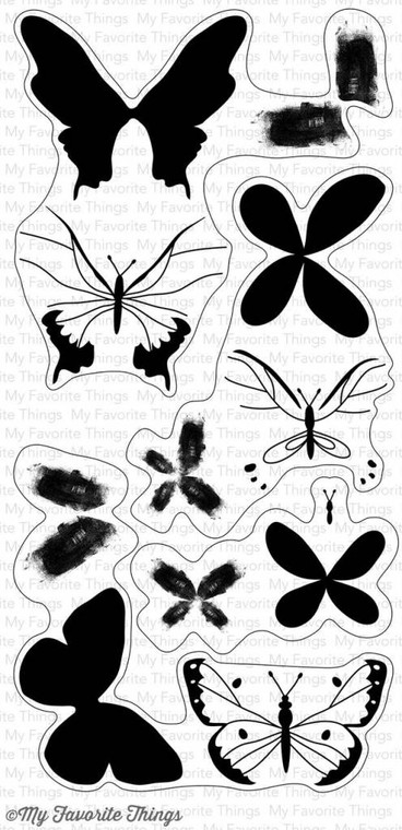 My Favorite Things - Beautiful Butterflies - Clear Stamp  clear stamp set.