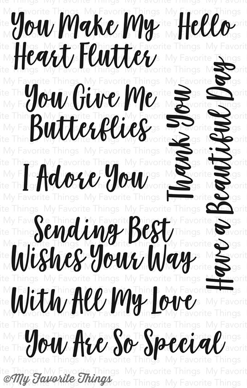 My Favorite Things - You Give Me Butterflies - Clear Rubber Stamp