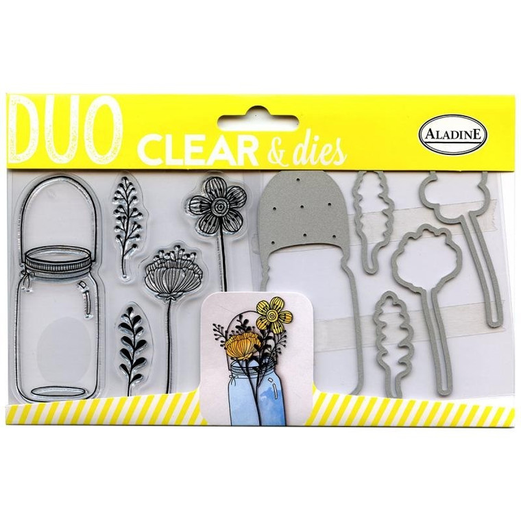 Aladine - DUO Clear Stamps & Dies - Botanical Set