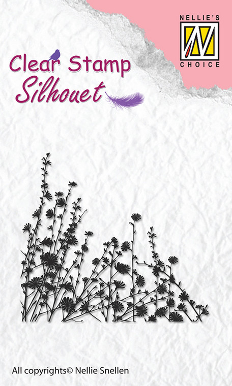 Nellie Snellen - Clear Stamps Silhouette - Spring Flowers