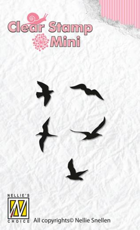 Nellie Snellen - Mini Clear Stamps - Birds