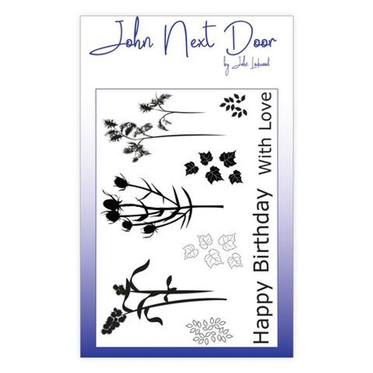 John Next Door - Clear Stamp - Autumn Flowers 9 pcs