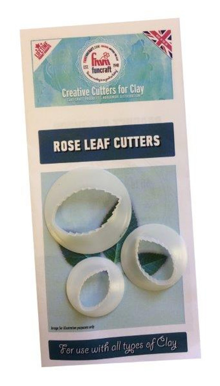Rose Leaf Clay Cutters Set of 3