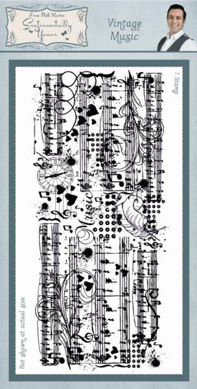 Creative Expressions - Vintage Music Rubber Stamp