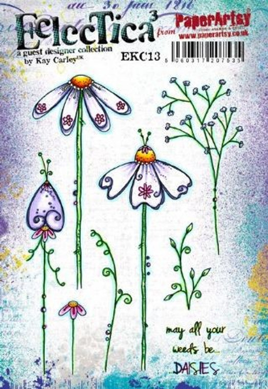 PaperArtsy Cling Mounted Stamp Set - Eclectica³ -  EKC13