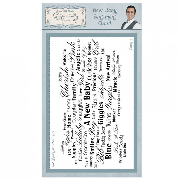 Phill Martin  - Sentimentally Yours - New Baby Sentiment Cloud