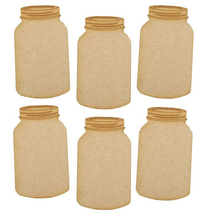 Creative Expressions - MDF Jars Pack of 6