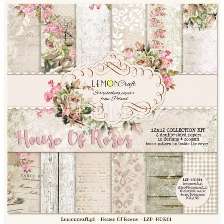Lemoncraft - Stack of Collection Scrapbooking Papers - House of Roses