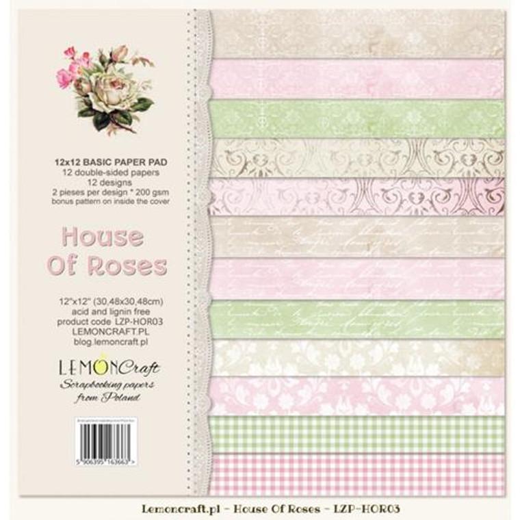 Lemoncraft - Basic Scrapbooking Pad - House of Roses 12x12