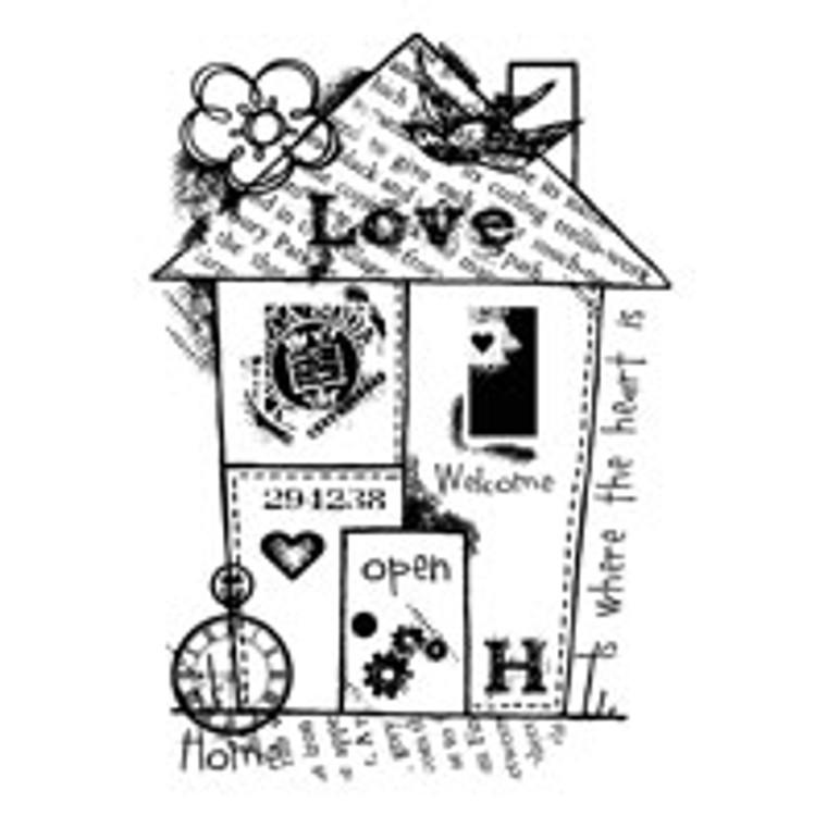 Woodware Clear Magic Singles - Home Collage (FRS612)  Polymer stamps are ready to mount on an acrylic block.  Packaged size A6 approx.