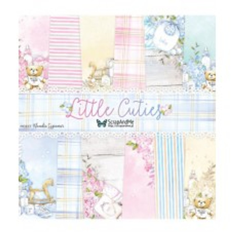 ScrapAndMe - Little Cuties- 12x12 Paper Set  A set of 5 double-sided papers      Woodfree, acid-free paper, 250g / m2.  30.5 x 30.5 cm (12 x 12 inches).  Made in Poland.
