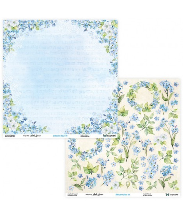 ScrapAndMe - Blossom Blue - 12x12 Elements ( Double Sided)