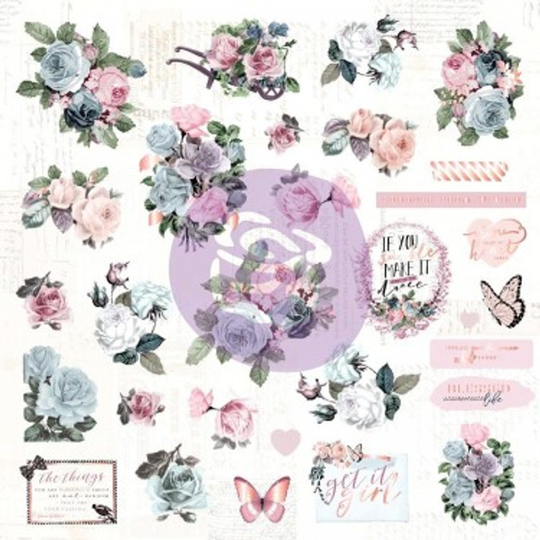 Prima Marketing - Poetic Rose Ephemera & Acetate (631727)  A classic beauty, mixed with a softer palette, Poetic Rose is quintessential Prima, updated with a modern twist! This floral-filled collection works for every craft genre and theme.  Bits and pieces to add to your paper crafting projects, these ephemera pieces will surely inspire you to create! Features both paper and acetate pieces.  Includes: 18 acetate and 31 die-cut paper shapes some with foil accents.