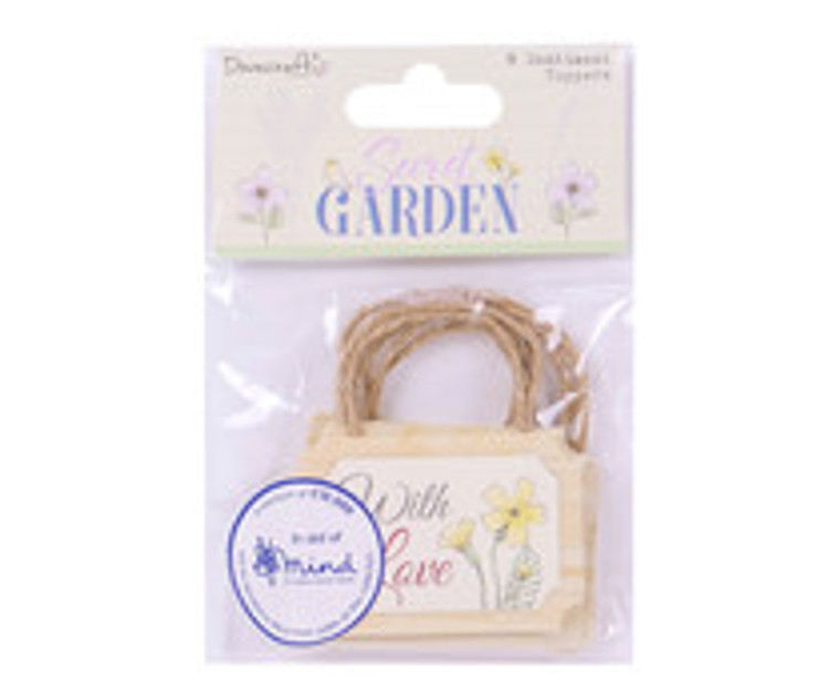Dovecraft Secret Garden - 8 Sentiment Toppers - Shed Signs