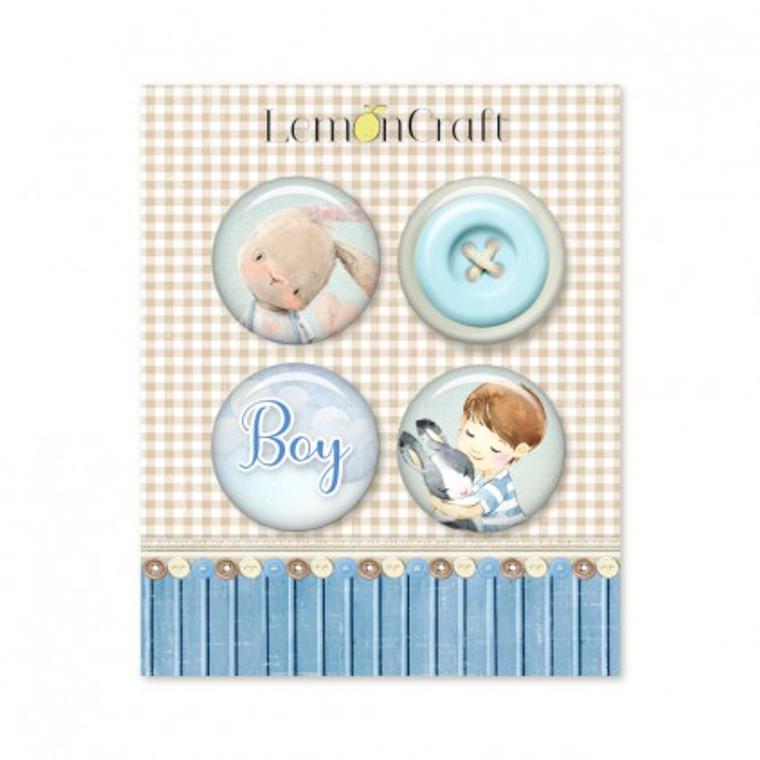 Lemoncraft - Boy's Little World - Buttons / badge (Set of 4)