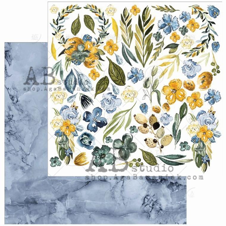 ABstudio - Something Blue by Aga Baraniak - 12x12