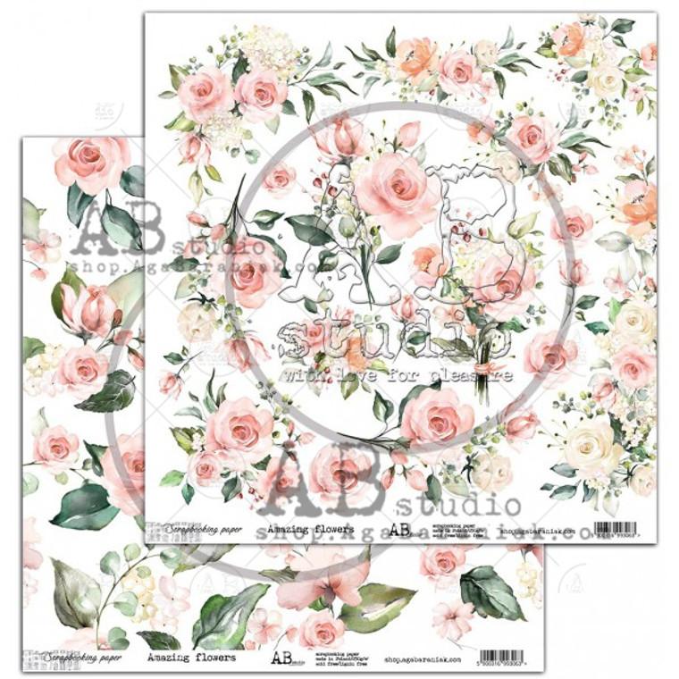 ABstudio - Amazing Flowers by Aga Baraniak - 12x12
