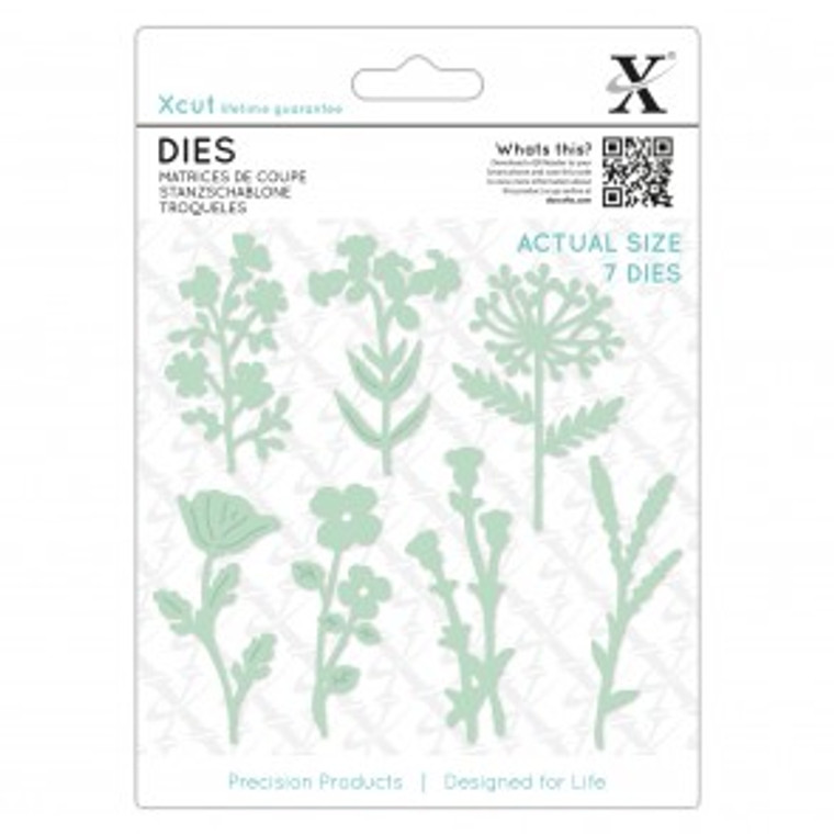 Xcut boasts a comprehensive range of designer dies, all made from the highest grade carbonised steel and are tested to deliver a superior cut. This Meadow Flowers Die is perfect for adding that professional look to any craft project. This Die Set includes 7pcs. Our dies are made from the highest grade carbonised steel and are tested to deliver a superior cut. Bring your die cut designs to life with this Meadow Flowers die. The one-piece design makes your creation simple but highly effective. This precision product is designed for life and makes a wonderful gift for any die-cutting enthusiast.
