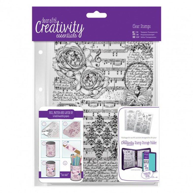 A5 Clear Background Stamp (1pc) - Musicality is available for purchase in increments of 1