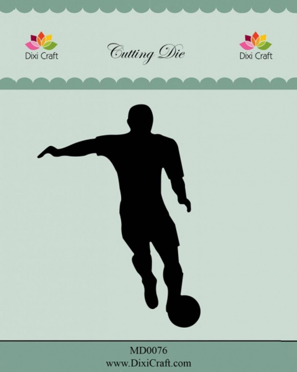 Dixi Craft Metal Cutting Die - Football Player (MD0076)  Metal dies for projects like scrapbooking, making cards or home decor. For specific product information take a look at the product image.  Approx: 8,5×2,8 / 9,3×2,3cm