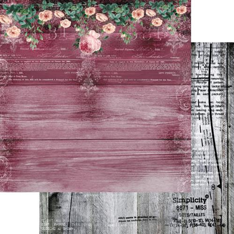 Scrapbooking Papers. Paper Collection Set 12ins x 12ins (30.5cm x 30.5cm)  13 Arts - Summer Rhapsody/Pink Thoughts, designed by Aida Domisiewicz 250gsm.