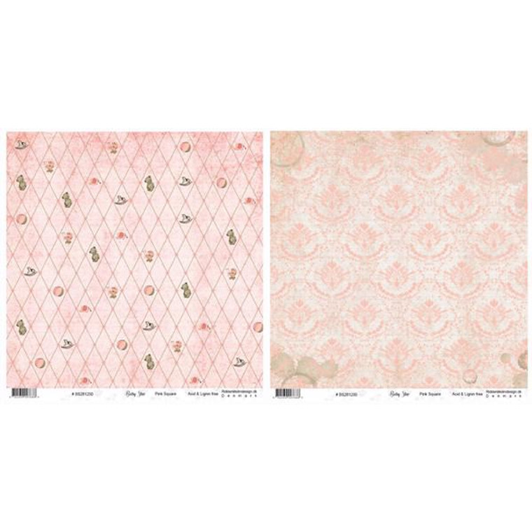 12x12 double-sided scrapbook paper. 200gsm