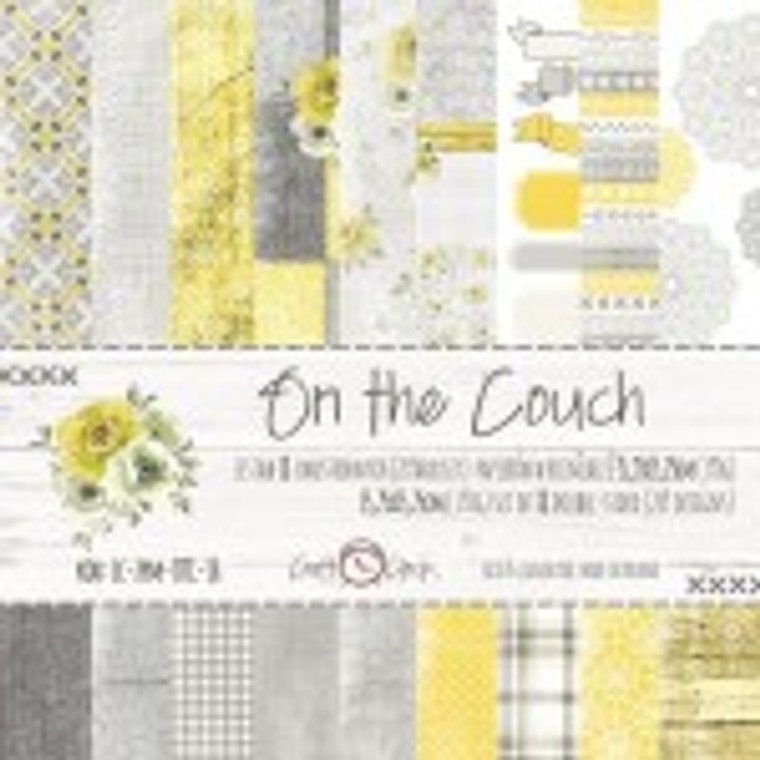 """Craft O'Clock - On The Couch  6x6 Premium Paper Collection Set 6""""x6"""" On The Couch, 190 gsm (gold glitter, 18 double-sided sheets, 18 designs, 2 units of each sheet, bonus design - 2)"""
