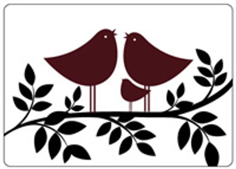 Crafts Too embossing folder - Tweet Tweet   Crafts Too Embossing folder - works with Cuttlebug and most other die cutting machines to produce an embossed panel, adding texture and dimension to your craft projects.  Size of folder: 10.5 x 15 centimetres (approximately A6)