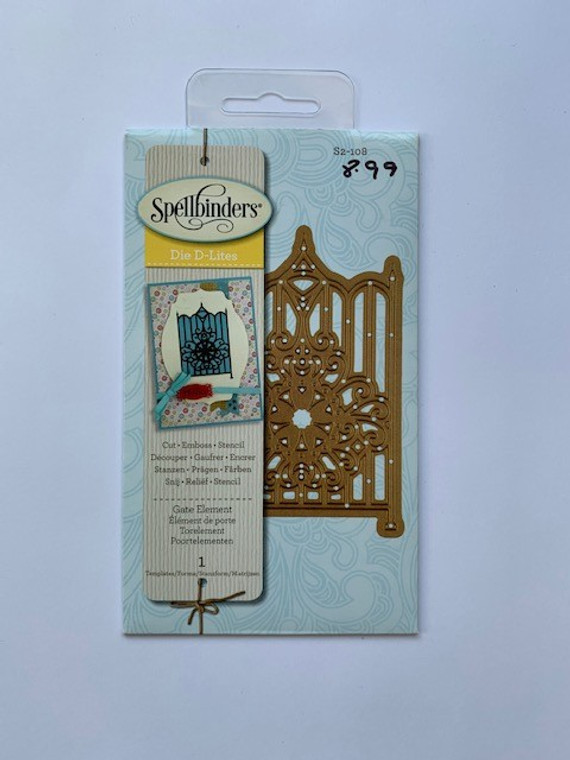 What a beautiful way to accent your garden themed project. This gate has delicate lines and a magnificent center piece design of wonderful swirls surrounding a floral motif. Spellbinders Shapeabilities Die D-Lites cut, emboss and stencil with a single die template. Approximate Die Template Sizes: 2.12 x 3.5 inches.