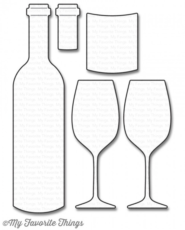 My Favorite Things - Wine Service - Die-Namics (MTF-1046) My Favorite Things Die-namics are metal dies that can be used for die-cutting and embossing. These universal dies can be used in most tabletop die cutting machines.