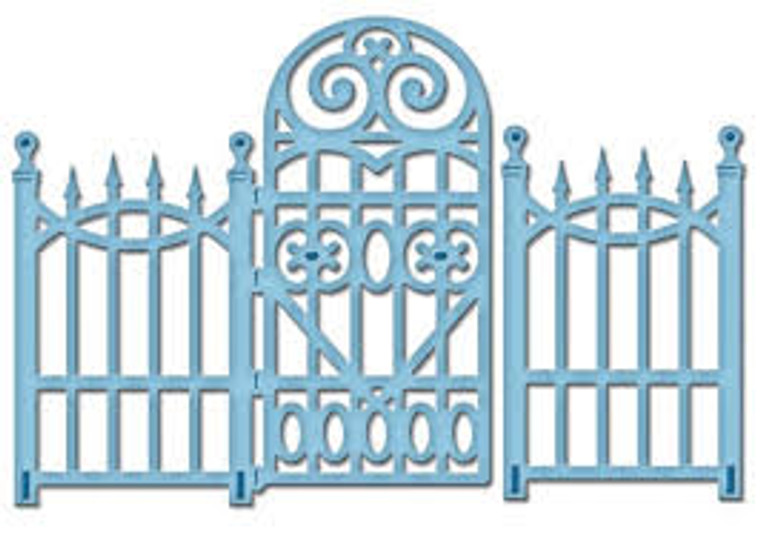 pellbinders Dies - Shapeabilities - D-Lites - Garden Gate (S2-080)         Set of 1 die. Prefect for recreating beautiful gardens and landscapes.      Perfect for  creating cards with exclusive and personal designs.     Contains: Garden entrance with door.     Size: 2.24 x 2.87 in.