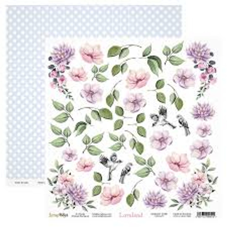 Scrapbook - Loveland Elements 12 x 12 - (LOLA-07)  LOVELAND - collection was designed in light, pastel colors. Ideally suited to romantic projects - wedding albums, cards and more.  Sheet Size: 30,5 x 30,5 cm (12''x12'')  190 gsm