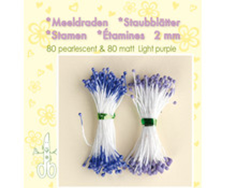 Leane Creatief, Stamens, Light Purple (26.4407)  Use stamens in all your handmade flower making. Can be used with paper and foamiran flowers.